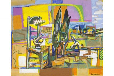 Landscape with chair