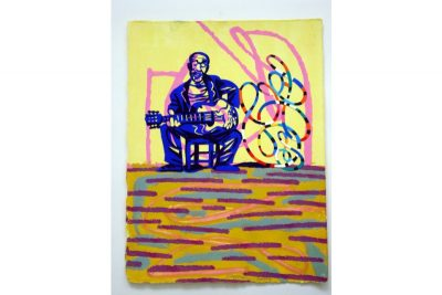 Jazz player with guitar