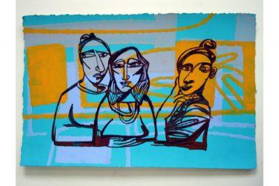 Three frontal women