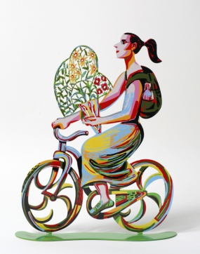 Rider with flowers