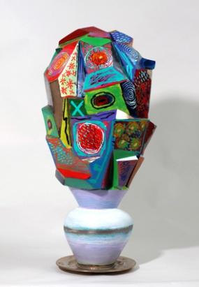 Cubist flower vase