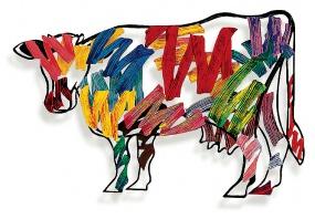 Brush strokes cow