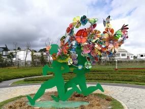 Sculpture installations, Guizhou National Park, China