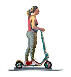 Traveler On Scooter – 39