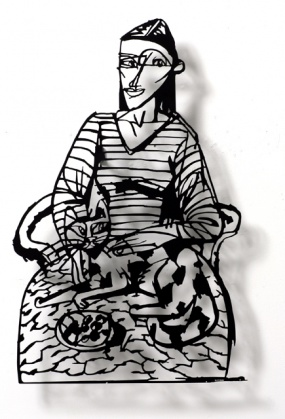 Woman with cat 06