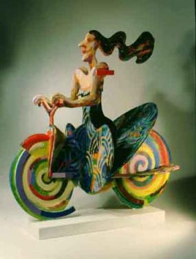 Woman on wheels