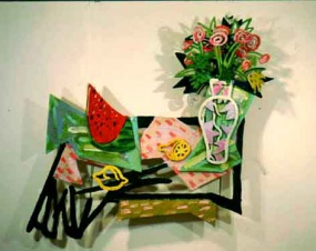 Still life with water melon